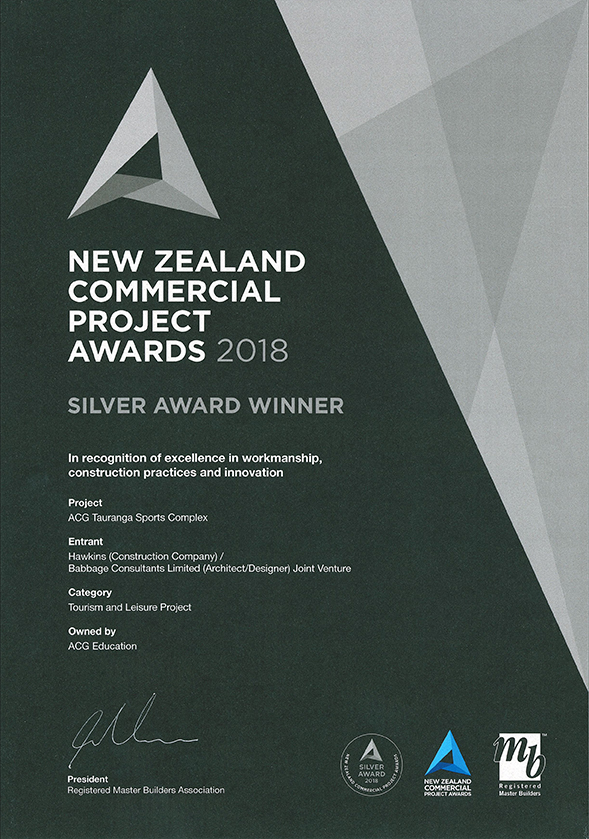 NZ Commercial Projects Award Silver ACG Tauranga