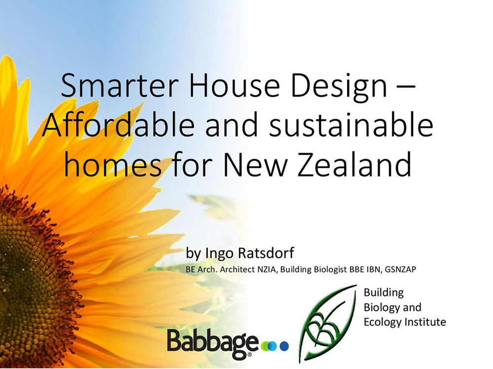 Talking about smarter, sustainable house design.