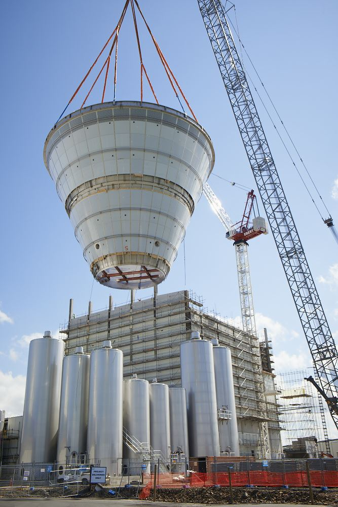 Fonterra Lichfield Milk Powder Expansion project in full gear.