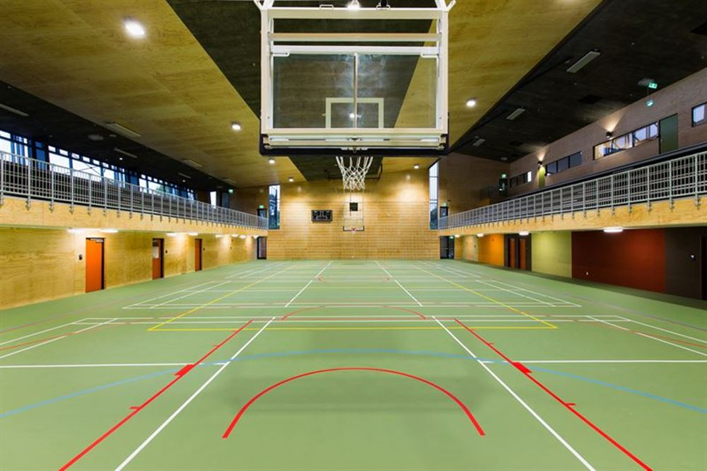 Amazing spaces - school's state of the art gym.