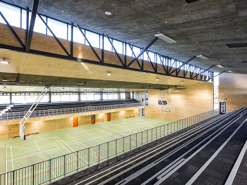 NZIA award for high performing school gymnasium.