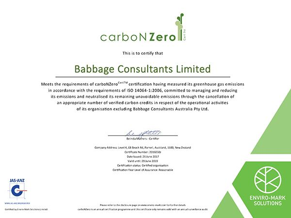 Carbon Zero Certification