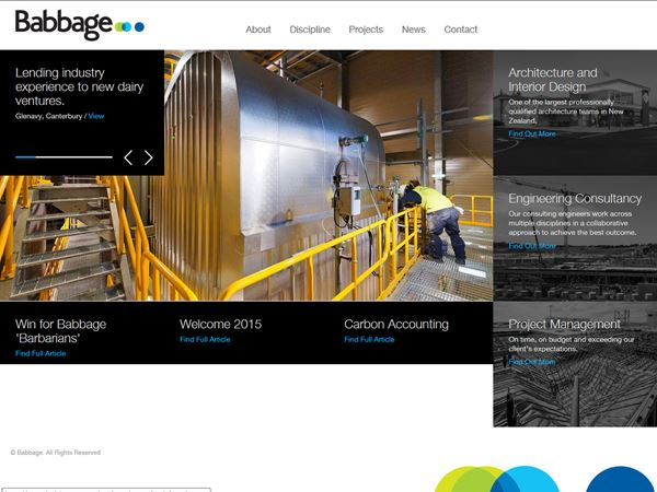 The brand new styling of the Babbage.co.nz website.