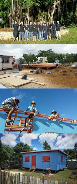 Babbage help cyclone proof houses in Tonga.